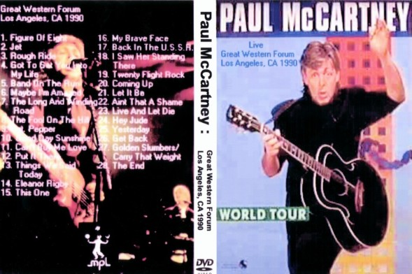 Paul McCartney CDR MP3 And DVD Page